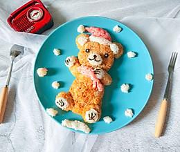 #令人羡慕的圣诞大餐#圣诞小熊饭团的做法