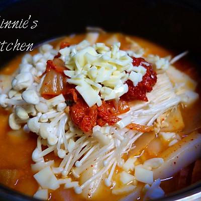 懒人菜谱---韩国泡菜奶酪年糕