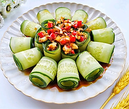 #全电厨王料理挑战赛热力开战!#响油黄瓜卷的做法