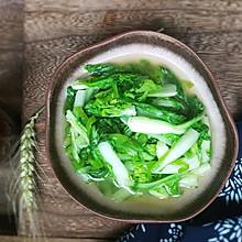 #做道懒人菜,轻松享假期#青椒小白菜