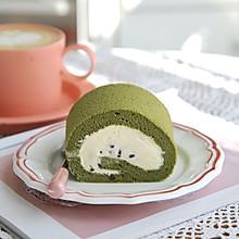#换着花样吃早餐#抹茶蜜豆蛋糕卷