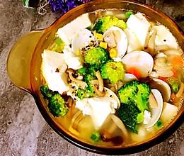 咸蛋黄花蛤豆腐汤的做法