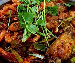 超详细香辣干锅(鸡翅+河虾)的做法