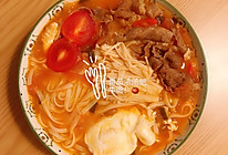 番茄浓汤肥牛面的做法