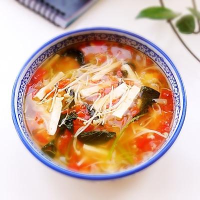 清爽开胃豆腐汤