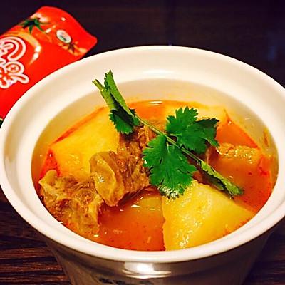 砂锅番茄牛肉汤(做给宝宝们吃的菜)