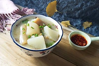#中式减脂餐#萝卜炖肉皮