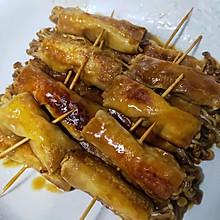 豆腐皮包金针菇