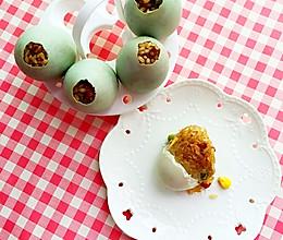 冬季的美味—蛋壳里孵出的腊味饭的做法