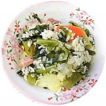 莴笋叶咸肉菜饭