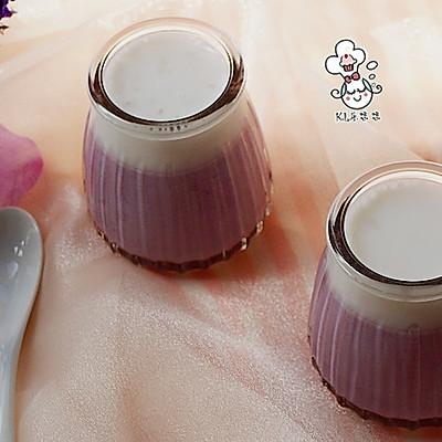 紫薯椰奶西米布丁-富含花青素的甜品