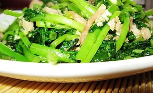 蒜蓉炒茼蒿的做法