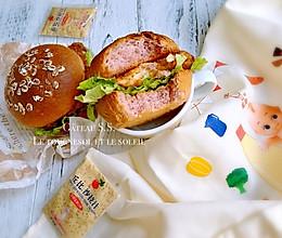 燕麦紫薯汉堡#丘比沙拉汁#的做法