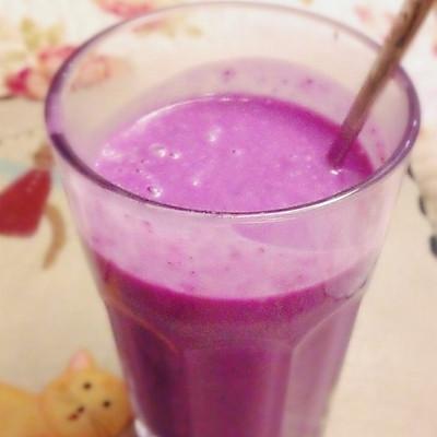 冬日热饮之紫薯奶昔~粗粮更健康