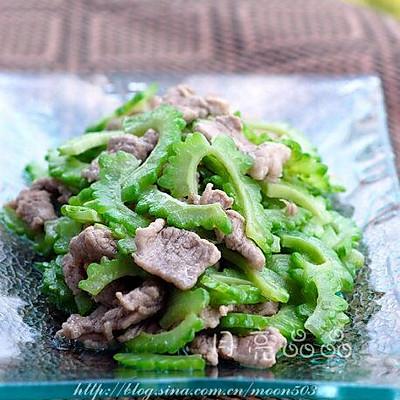 凉瓜炒猪肉