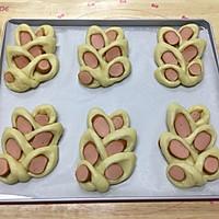 麦穗脆皮肠面包,冷藏法的柔软面包的做法图解12