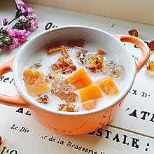 #百变水果花样吃#木瓜牛奶炖桃胶
