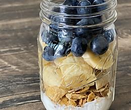 香蕉麦片早餐瓶的做法