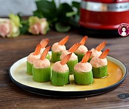 虾茸丝瓜盅的做法