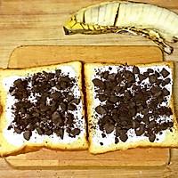 #花10分钟,做一道菜!#奥利奥酸奶香蕉吐司的做法图解3