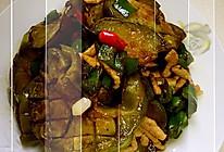 香煎茄饼炒肉的做法