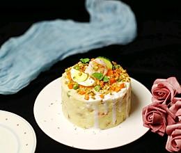 滴落蛋糕造型的土豆泥沙拉的做法