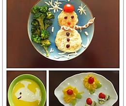 雪人儿童早餐的做法