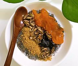黑芝麻燕麦粥的做法