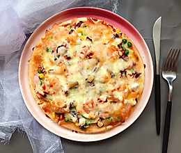 家庭版海鲜pizza的做法