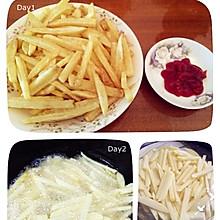 自制炸土豆条(薯条)