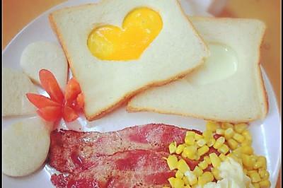 心形土司煎蛋