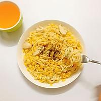奶油鸡肉玉米意面的做法图解8