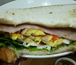 快手粗糙版三明治的做法