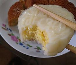 奶黄椰丝冰皮月饼的做法