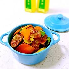 胡萝卜炒腊肠#沃康山茶油#