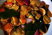 土豆片烧海带的做法