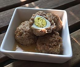 蒸微鹌鹑蛋肉丸的做法
