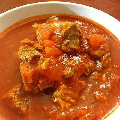 大喜大牛肉粉试用之西红柿牛腩的做法 步骤6