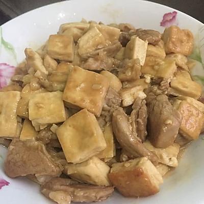 香煎豆腐炒肉