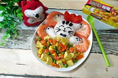 快乐小猫之咖喱豆腐饭