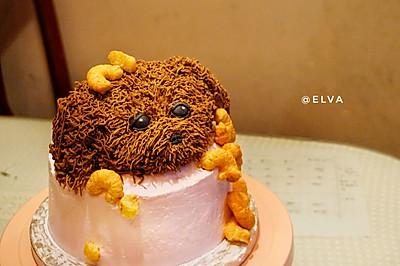 情景造型蛋糕(捣蛋求放过小狗)