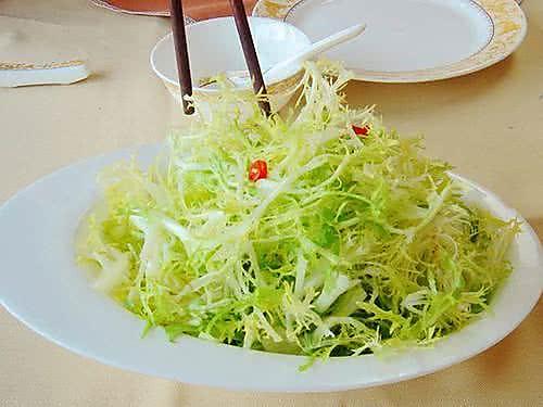 凉拌苦菊菜的做法