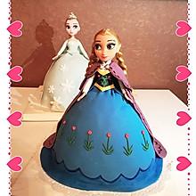 冰雪奇缘翻糖公主蛋糕(附戚风方法)