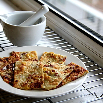 【培根玉米烙蛋饼】10分钟快手早餐