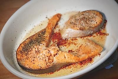 快手烤箱菜 盐烤三文鱼