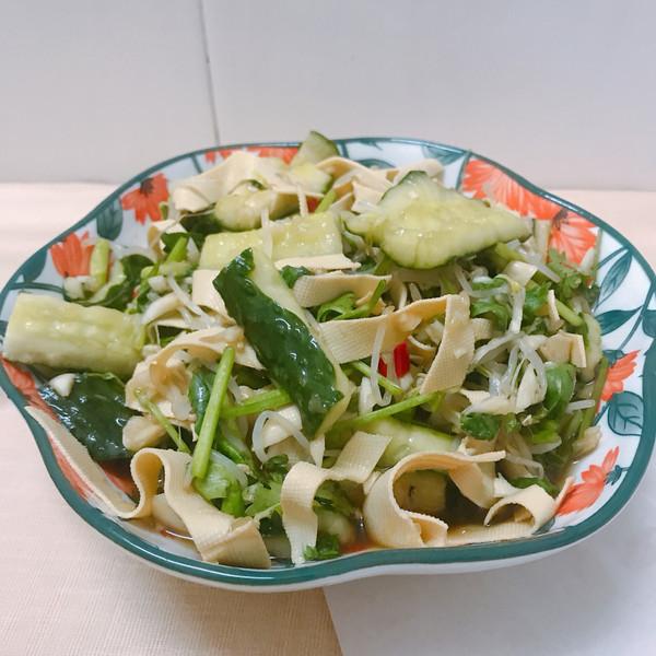 凉拌青瓜➕豆腐皮的做法