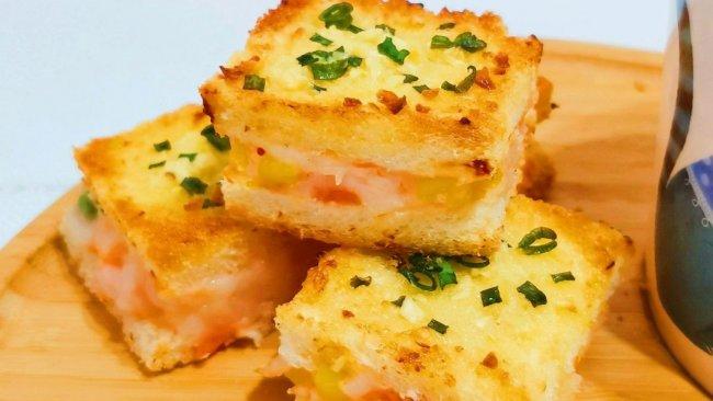 神仙早餐|芝士虾泥蒜香吐司脆的做法