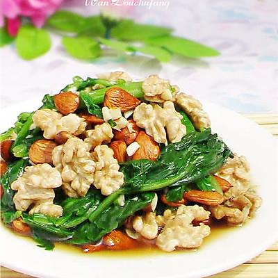 夏季养生菜:核桃杏仁菠菜