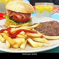 培根牛肉汉堡的做法图解8