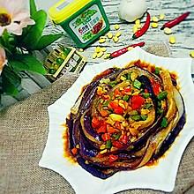 蒜香手撕蒸茄子+#春天就酱吃#